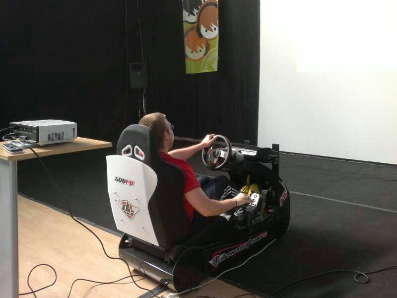 Simulador de conducción deportiva DRIVE SEAT 500RC