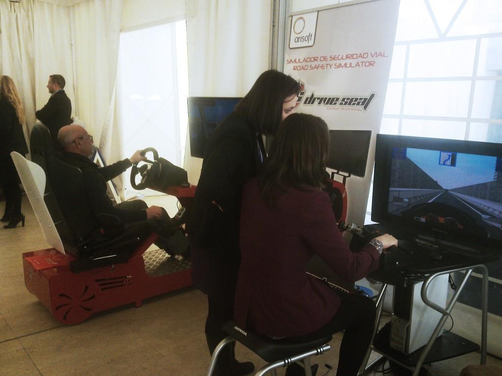 Simulador de conducción DRIVE SEAT 500ST en Expoformación 2014